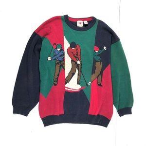 Cotton Traders Men's Vintage Sweater Golf Sz XXL